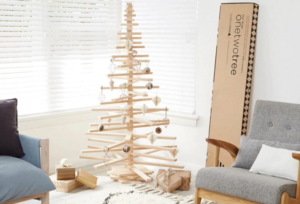 non-toxic-christmas-tree-alternatives-on-two-tree-wooden-christmas-tree-the-filtery