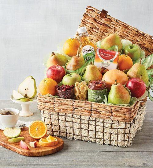 organic fruit gift basket organic gift ideas harry and david